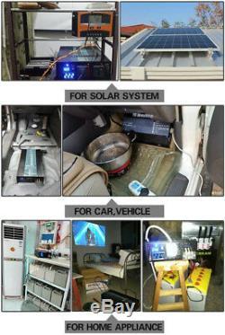 2000W Pure Sine Wave Inverter Solar Power 12/24/36/48V to 240V Off Grid Home RV