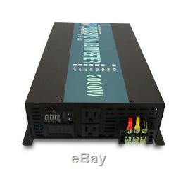2000W Pure Sine Wave Solar Power Inverter 36V/48V DC to 120V/240V AC Off Grid