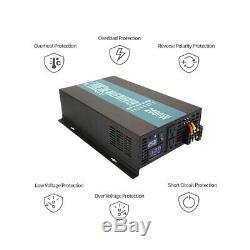 2000W Solar Power Pure Sine Wave Inverter 12V 110V 120V Home Off Grid Remote Con
