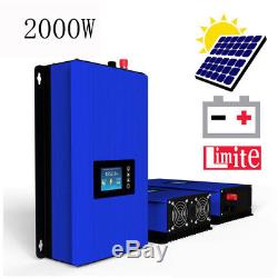 2000W Solar on Grid Tie Inverter with Power Limiter, MPPT PV System DC 45-90V