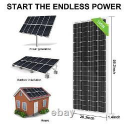 200W Watts 12 V Solar Panel Battery Charge for 12V RV Boat Home Car Off Grid kit
