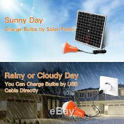 20W Solar Panel Lighting Kit Off Grid Lights Remote Control Powered Shed 4 LED
