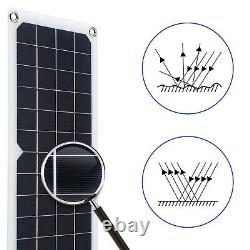 20W Watt Solar Panel Kit 12V Off Grid Battery Flexible Charge For Car RV Camping
