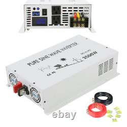 24V to 120V 2500W DC to AC Power Pure Sine Wave Inverter Solar System off Grid