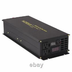 2500W Pure Sine Wave Power Inverter 12V/24V DC to 120V/240V AC Off Grid Solar