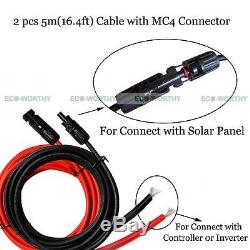 2KW Home Grid Tie System 20pcs 100W Solar Panel & Solar Power Inverter Home US