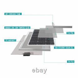 2PCS Renogy 100W Watt 12V Mono 200W Solar Panel (Compact Design) Off Grid Power