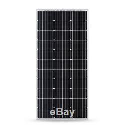 2pcs HQST 100W 12V Mono Solar Panel-Compact Deisgn 200W Off Grid PV Power