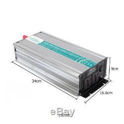 3000W DC12V to AC110V Off Grid Pure Sine Wave Solar Power Inverter LED