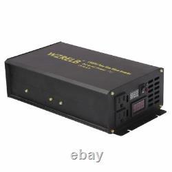 3000W Peak 1500W Pure Sine Wave Power Inverter 12/24V DC to 120/220V AC Off Grid