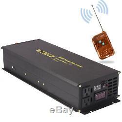 3000W Pure Sine Wave Inverter 12V to 110 120V Solar Power Off Grid Remote Switch