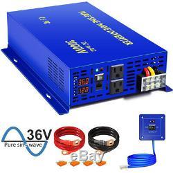 3000W Pure Sine Wave Inverter 36V to 110V 120V Off Grid Solar Power Inverter