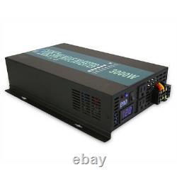 3000W Pure Sine Wave Power Inverter 96V/110V DC to AC 120V/240V Off Grid Solar