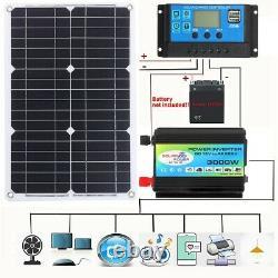 3000W Solar Panel Kit Complete Solar Power Generator 60A Home 220V Grid System
