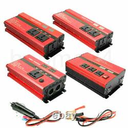 3000W Solar Power Inverter Off Grid Modified Sine Wave Converter 12/24V to 220V