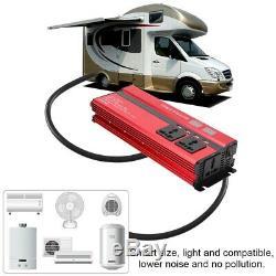3000W Solar Power Inverter Off Grid Pure Sine Wave Converter 12V/24V to 220V
