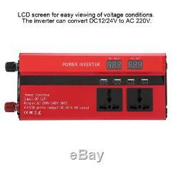 3000W Solar Power Inverter Off Grid Pure Sine Wave Converter 12V/24V to AC 220V