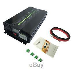 3000W Solar Power Inverter Pure Sine Wave DC 24V AC 120V 60HZ Off Grid US Stock