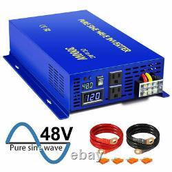 3000w 48v Power Inverter Pure Sine Wave DC to AC 110v 120V Off Grid Solar Car