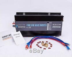 36V DC to 120V/220V AC 4000W Off Grid Pure Sine Wave Home Solar Power Inverter