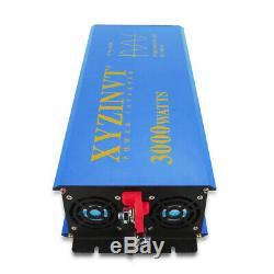 36V to 110V 3000W Solar Pure Sine Wave Power Inverter Battery Power Off Grid Hom