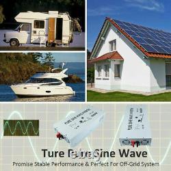 36V to 120V 4000 Watt Pure Sine Wave Power Inverter Solar Inverter Off Grid RV