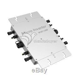 4 x300w 1.2KW Inverter 110V/220V Solar Power Grid Tie Solar Power Pure Sine Wave