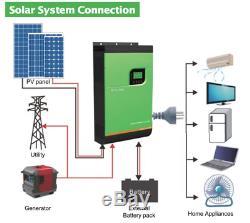 4000VA MPPT Hybrid Solar Power Inverter on/off Grid Tie PV System Energy storage