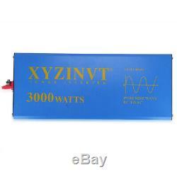 48V to 120V Solar Power Pure Sine Wave Inverter 3000W Home Off Grid Generator RV
