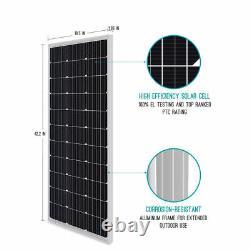 4PCS Renogy 100W Watt 12V Mono 400W Solar Panel (Compact Design) Off Grid Power