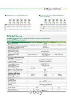 5.5KW DC48V AC230V Solar On+Off-grid Hybrid Solar Power Inverter Battery Charger