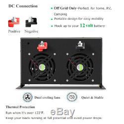 5000W Pure Sine Wave Solar Power Inverter Off Grid 12V 120V DC AC RV Car Camping