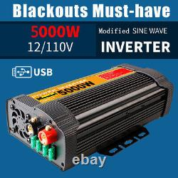 5000W Solar Power Inverter Off Grid Modified Sine Wave Converter 12V to AC110V