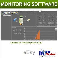 5000w 48v 230vac Hybrid Solar inverter grid tid + off grid max solar power 6kw