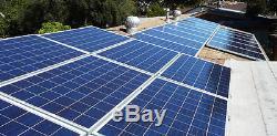 5kw 5000 watt solar panel power kit, grid tie inverter, solar panel 250w