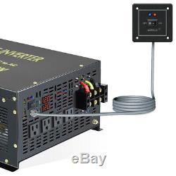 6000W Pure Sine Wave Power Inverter 12V to 240V DC AC Solar Converter Off Grid