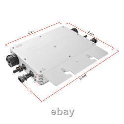 600W Solar Grid Tie Micro Inverter Solar Power MPPT Waterproof DC22-50V HS1347