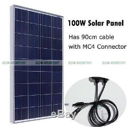 600W Solar Panel Complete Kit 6x100W Solar Power for 24V Home Off Grid System