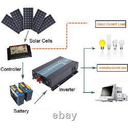 60V to 110V 120V Pure Sine Wave Power Inverter 1500W DC to AC Power Off Grid RV
