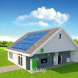 6kw Off-Grid Solar Power Storage System, 12 KWh Battery Bank, 3.6 KW Solar Power