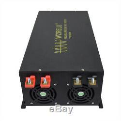 7000W Pure Sine Wave Inverter 12V/24/48V DC to 240V AC Solar Power Off Grid Car