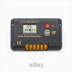 720W 480W 360W 240W 120W Mono Solar Panel Kit Off Grid Solar Power Camping RV US