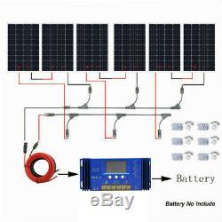 720W Watt Solar Panel System Kit 6x120W Solar Power For Home US Off Grid System