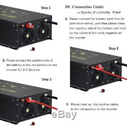 8000w Pure Sine Wave Power Inverter 24V to 230V Off Grid Solar Remote Generator