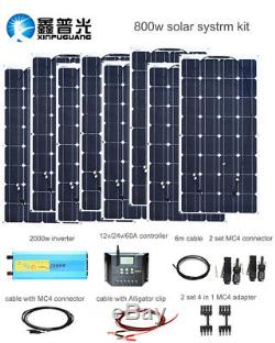 800w Off Grid Solar Power System Solar Panel for Camping Home Roof Boat Charging