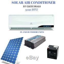 9000 BTU SOLAR POWERED AIR CONDITION UNIT 24hrs off grid
