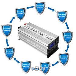 ANBULL Solar Power Pure Sine Wave Inverter 1500W 12V to 110V Off Grid Battery