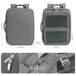 Backpacks Solar Powered Off-Grid 9W Thin Film Flexible Hidden Panel Business Bag