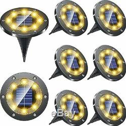 Biling Solar Lights Outdoor Grid Design Shell, Powered Frosted Black Ground 8