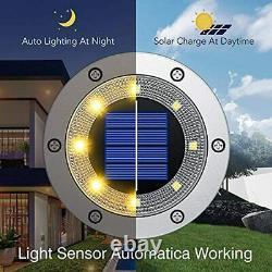 Biling Solar Lights Outdoor Grid Design Shell, Solar Powered Ground Lights